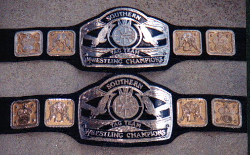 GRW Georgia State Tag Team Title Belts